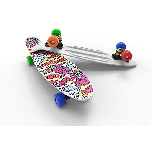 WotheCase complete skateboard suitable for girls children boys youth professional skateboard cruiser plastic skateboard-B