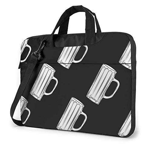 Leere Bierkrüge Schwarz-Weiß-Biergläser Laptoptasche Notebook Computerschutzhülle Anti-Kratz-Handtasche Umhängetasche