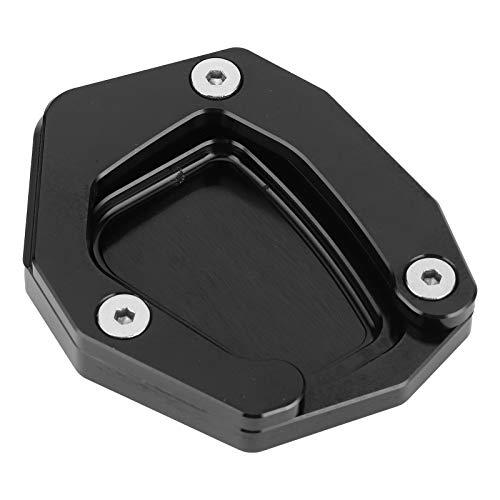 Aramox Almohadilla para Pata de Cabra de Motocicleta, Soporte de Pata de Cabra para Motocicleta Almohadilla de extensión de Placa de Soporte Lateral KSP-100-Set Apto para K1600GT / GTL K1600B(Negro)