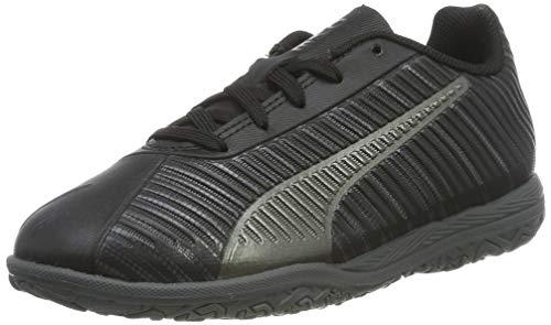 Puma One 5.4 It Jr, Scarpe da Calcetto Indoor Unisex-Bambini, Nero Black Black Aged Silver, 36 EU