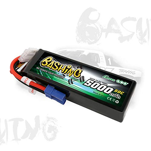 Gens Ace 5000mAh 14.8V 4S1P 50C Lipo Battery Pack with ec5 Plug-Bashing Series
