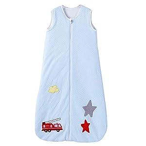 Saco de dormir de invierno para bebé, 100% algodón, 2,5 tog, tamaño: 130, diseño: perro estrella, (130 (3-6 años), color…