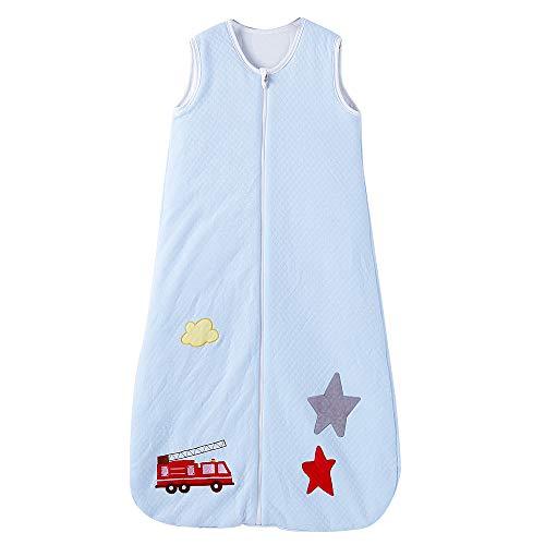 Saco de dormir para bebé, 100{cc99717d28ebf4413acb88c6061d931aff3e83b1d6aceb3072533949a0b0f294} algodón, 2,5 TOG, tamaño 130, diseño: perro estrella. (130 (3 – 6 años), diseño de coche de bomberos de estrella)