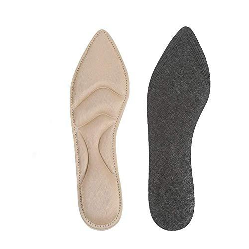 1 paar Voegt 4D Sponge Arch Ondersteuning Pad Hoge Hakken Comfort Kussen Inlegzolen Beige