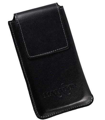 MATADOR Leder Hülle Tasche Case Cover Etui kompatibel mit Galaxy Xcover 4 Natur Schwarz