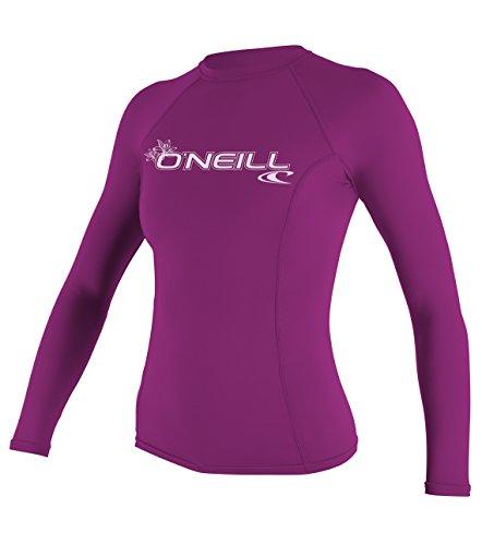 O'Neill Wetsuits Damen Basic Skins Long Sleeve Rash Guard Vest, Pink, L