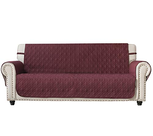 Ameritex - Funda de sofá con estampado de huellas de perro antisalpicaduras 100% resistente al agua acolchado protector de muebles para perros, niños, mascotas, funda de sofá para sofá de cuero