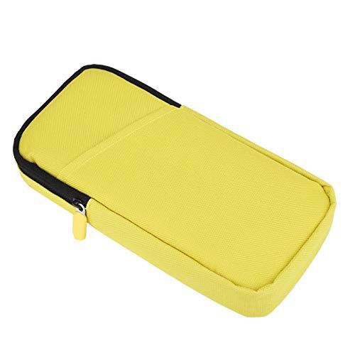 Bolsa de Consola de Juegos con Cremallera de Nailon y Almacenamiento Suave a Prueba de Golpes, para protección de interruptores, para Accesorios de Juegos Nin-Ten-do Switch /(Yellow)