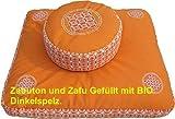 Meditationskissen Zafu und Meditationsmatte ZABUTON Extra Thick, Meditationszubehör,...