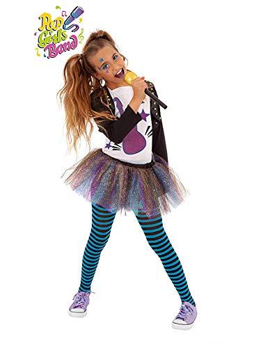 DISBACANAL Disfraz roquera Bonnie para niña - -, 5-7 años