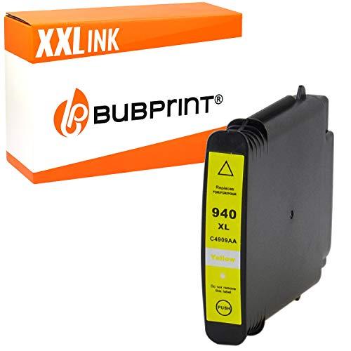 Bubprint Druckerpatrone kompatibel für HP 940XL 940 XL C4909AE für OfficeJet Pro 8000 Enterprise Wireless 8500 Premier 8500A Plus Premium Gelb