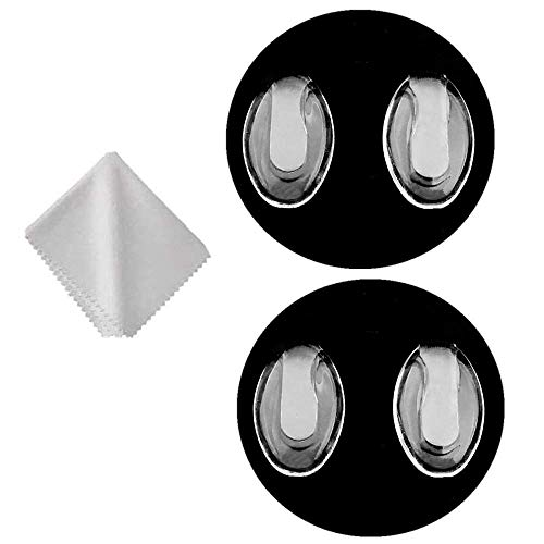 Glasses Nose Pads,BEHLINE Eyeglass Nosepads for Rimless/Frameless Glasses Eyeglasses Frames,for Silhouette Eyeglasses Rimless Frames Eyewear Nose Pieces,Plug-in/Slot-in Nose Bridge Pads