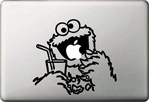 Vati Hojas desprendibles Carácter Creativo de la Historieta de Apple Comer Sticker Decal Skin Arte Negro para Apple Macbook Pro Aire Mac 13' 15' Pulgadas/Unibody 13' 15' Pulgadas Portátil