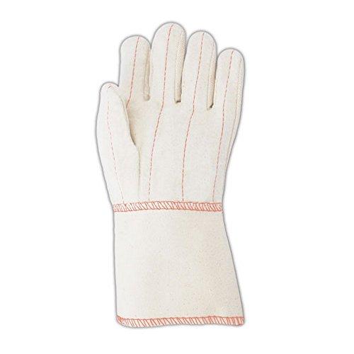 MAGID 97GT Heater Beater 24 oz. Cotton Canvas Hot Mill Gloves, Standard, White (12 Pair)