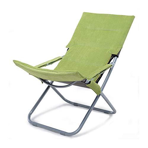 Tumbonas plegables YXB para oficina, balcón, playa, tumbonas, sillas cerradas, color negro