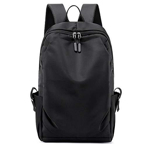 Rugzak LKU Fashion Casual rugzak waterdichte laptoptas heren reistas rugzak college student tas, zwart (zwart) - 6959925502868