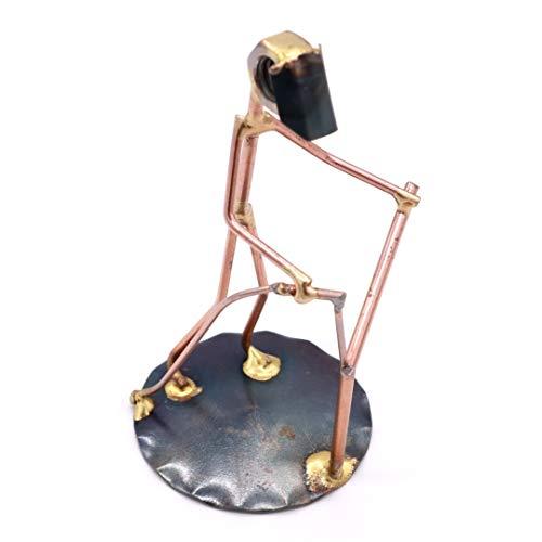Welder Collectible Handmade Metal Art Figurine, Desk Accessories, Trophy, Boss Gift, Office Décor, Construction Worker