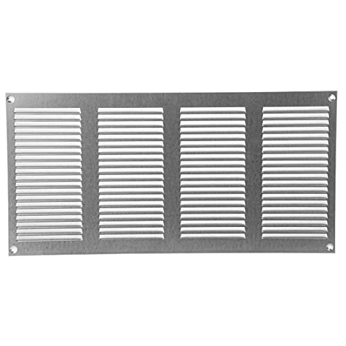 Vent Systems Galvanized 8x16 inch Air Vent Cover Metal Air Return Grill with Built in Pest Guard Screen HVAC Vent Cover for Home Improvement Vent Duct Cover 200x400 mm
