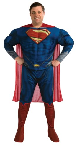 Rubie's Costume Plus-Size Man Of Steel Deluxe Adult Superman Costume, Blue/Red, Plus