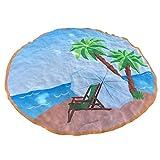 Sonnena Serviette Plage Rondes Mandala de Style Hippie Couvre-lit Drap de Plage en Toile de Coton tenture Murale Tapis Rond de Yoga Serviette De Plage Pas Cher