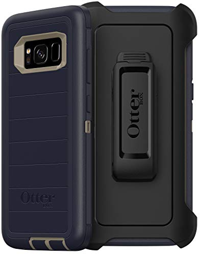 OtterBox Defender Series Rugged Case & Holster for Samsung Galaxy S8 (Only) Retail Packaging - Dark Lake (with Microbial Defense)