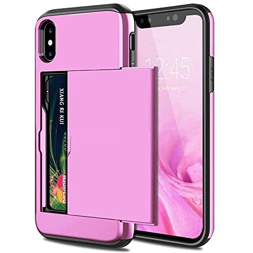 GHC Fundas & Covers para iPhone 12 Mini 12 Pro MAX 11 Pro MAX, Caja de Teléfono de Negocios Diapositiva Armadura Tarjeta Tarjeta Tapa de Tapa para iPhone X XS MAX XR