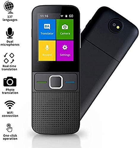 Sprachübersetzer Gerät, unterstützt 137 Sprachen Smart Intelligent Zwei-Wege-WiFi/Hotspot/Offline Instant 2,4 Zoll Touchscreen Pocket Sprachübersetzung Funktion Reisen Lernen Business