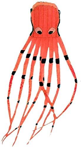 Dljyy Bunte Drachen Cartoon Outdoor Faltbar Kinder Spaß Spielzeug 8M 3D Octopus Software Drachen mit Schnur (Farbe: Rot, Größe: Einheitsgröße)
