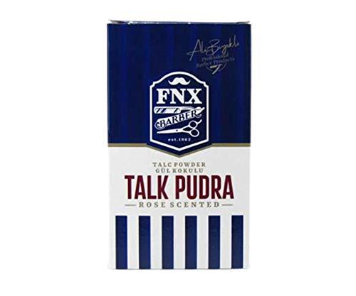 FNX Barber Talc Powder 250gr| Friseur Talkum Puder | Kuaför Talk Pudrasi | Entfernt Körper Hautreizungen und Kratzer | Herren Rasur Nachbehandlung |Rose Scented - Gül Kokulu | Friseurbedarf |