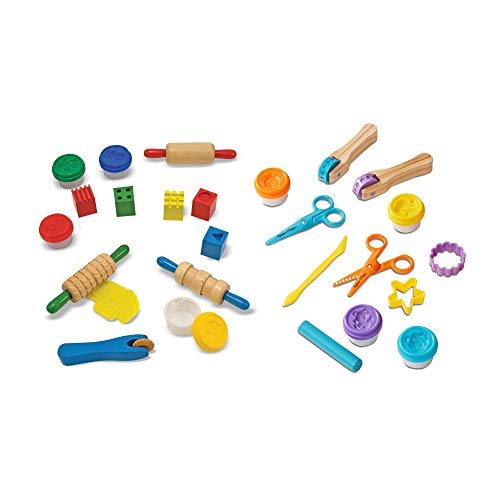 Melissa & Doug Clay Play Activity Set With Sculpting Tools and 8 Tubs of Modeling Dough (Arts & Crafts, 2 Complete Kits, Great Gift for Girls and Boys - Best for 3, 4, and 5 Year Olds)
