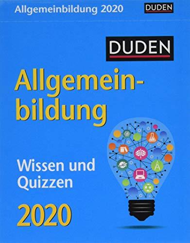 Duden Allgemeinbildung Duden. Tischkalender 2020. Tageskalendarium. Blockkalender. Format 11 x 14 cm