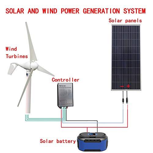 2020 500W Windenergie Solarhybridsystem: 400W Windgenerator + 100W Solarpanel + Windturbine Controller + Solarbatterie.