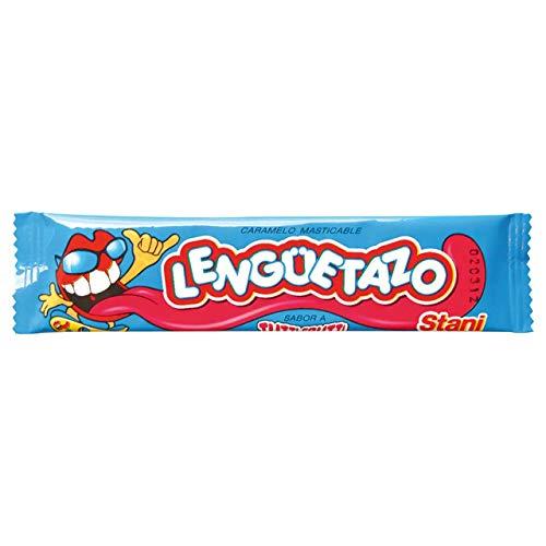 Caramelo Agrio Lengüetazo Long Tutti-Frutti Soft, 13 g / 0.5 oz (Box of 50 Units)