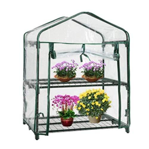 Phoetya - Mini piante a effetto serra, impermeabile e con protezione UV, per piante da giardino, in PVC, 4 strati, portatile, S 69 x 49 x 92 cm,Senza telaio in ferro