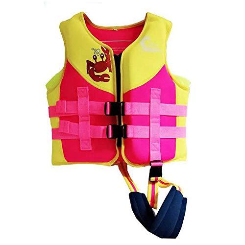 Dasgf Zwemjas voor kinderen, zwemmen, leren, trendy vinnen design, ideaal zwemgeschenk voor jongens en meisjes, draagbare zwemuitrusting, EPE-drijfvermogen, 2-13 jaar oud, 10-30 kg