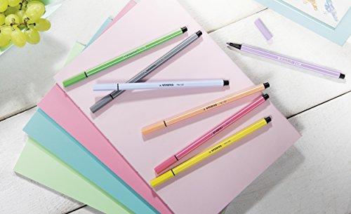 Stabilo Pen 68 Cardboard Wallet – Rotulador de punta media sintética (30 unidades), colores surtidos