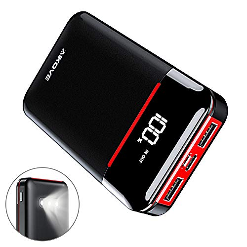 Aikove Power Bank 10000mah Portable Charger with 2 Outputs& 2 Inputs Huge Capacity Backup Battery Compatible with Smart Phones,Android Phone,Tablet and More