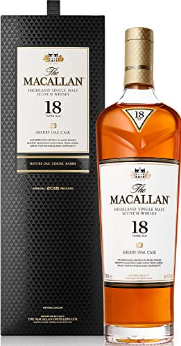 Macallan Sherry Oak 18 Years Old Whisky mit Geschenkverpackung  (0,7 L)