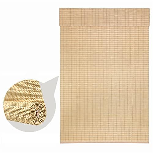 H.ZHOU Cortina de bambú Al Aire Libre Roll Up Shades Cortinas for Porche/Pergola/Patio, Exterior Roller Shade Sombra de Pantalla de privacidad for la Cubierta del Patio Trasero - 100/115/130/140 c
