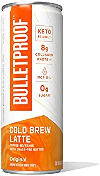 12-Pack 8-Oz Bulletproof Cold Brew Latte Keto Ready to Drink Coffee