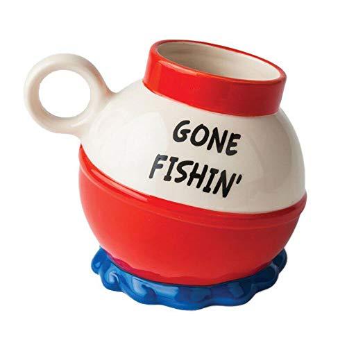 BigMouth Inc. Original Gone Fishin' Mug, Ceramic Mug, Coffee Mug, Funny Novelty Gift, 20 oz.