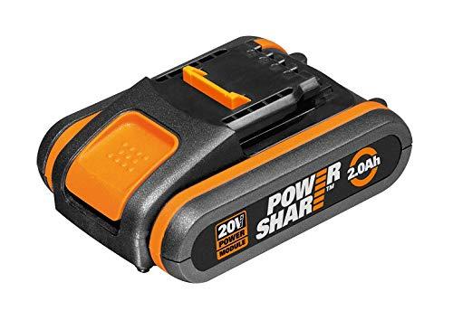 Worx WA3551.1 Batteria 2.0Ah 20V Agli Ioni Di Litio, Worx Power Share 20V