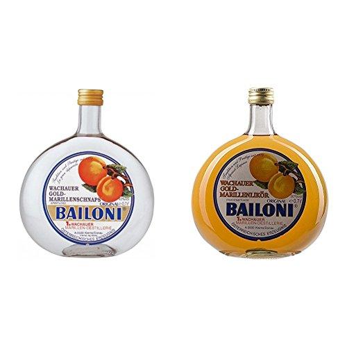 Bailoni Marillen - Schnaps aus Österreich, 1er Pack (1 x 700 ml) + Wachauer Gold-Marillenlikör, 1er Pack (1 x 700 ml)