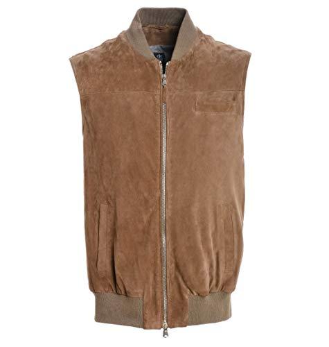 Luxury Fashion | Eleventy Heren 979PL0011PEL190043 Bruin Leer Gilets | Lente-zomer 20