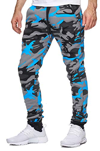 OneRedox Herren Jogging Hose Jogger Streetwear Sporthose Modell 794 Turkis M