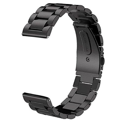 V-MORO Kompatibel mit Samsung Galaxy Watch 46mm Armband Gear S3 Armband Frontier/Classic Armband,(Metall schwarz) Solider Edelstahl Ersatz Band Uhrenarmband Armbands für Gear S3 Frontier/Classic