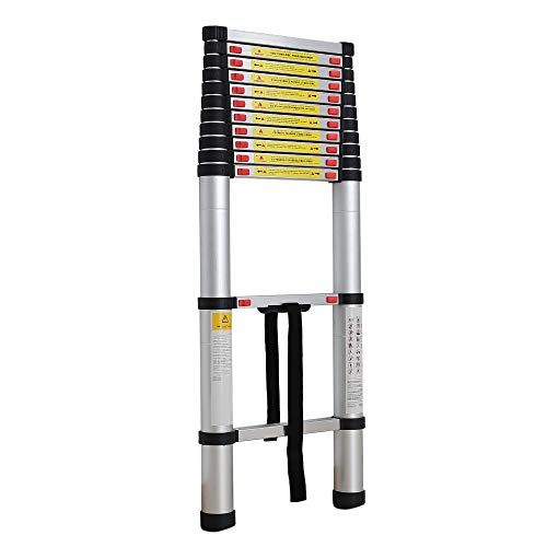 Sotech - Foldable Ladder, Telescopic Ladder, 3.8 Meters (12.5 feet), Free Carry Bag, EN 131, Maximum Load: 330 lbs, Standard/Certification: EN131