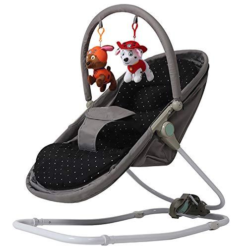 GZP Baby Türsteher Stuhl Und Hängematte, 3-Gang-Einstellung, Baby Schaukelstuhl Wiege Baby Komfort Stuhl Schaukelstuhl Schaukelbett Shaker Bett Stuhl Baby Schlaf Artefakt,Grau