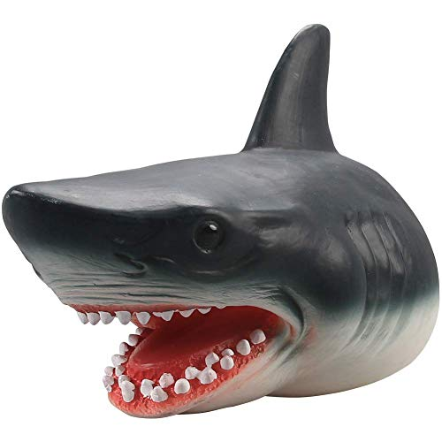 LOVE PARADISE Shark Hand Puppet Toys Role Play Toys 7 inch Soft Rubber Realistic Sea Animal Gift for Kids