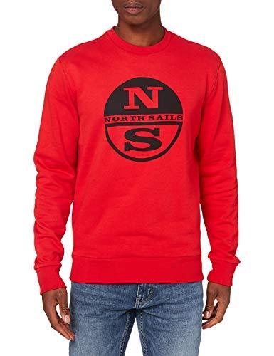 NORTH SAILS Felpa in Cotone Organico in Rosso S
